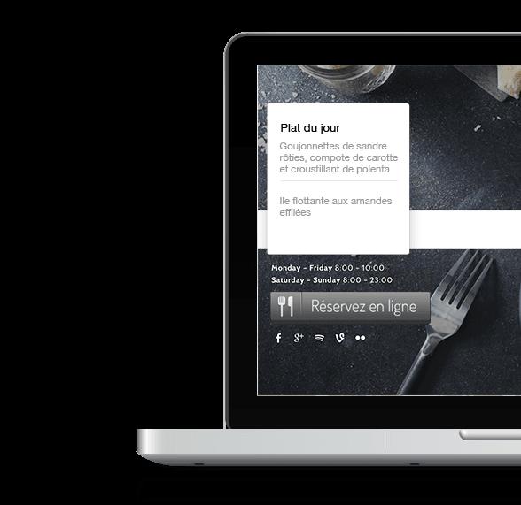 site web restaurant geneve
